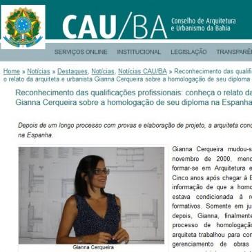 Entrevista CAU/BA